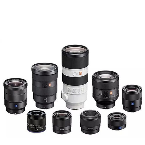 sony camera lenses in a group